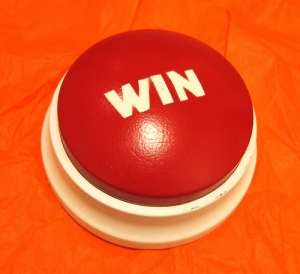 A big red win button
